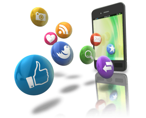 smart phone and social media