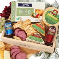 meats and cheeses gift crate