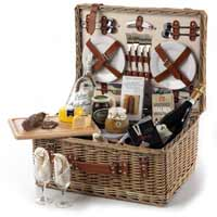 Wine Gift Picnic Basket to UK