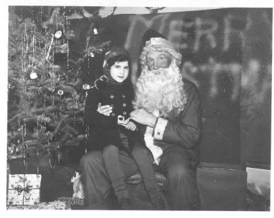 Santa Claus back in the 50's